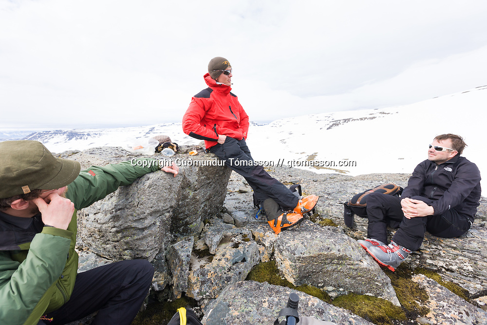 Images from an ski touring adventure to Jökulfirðir, a series of fjords in west Iceland, with Bergmenn Mountain Guides and Borea Adventures. The tour takes skiers from fjord to fjord with the sail boat Aurora as a overnight base.