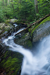 A waterfall on Dowsville Brook in Duxbury, Vermont.
