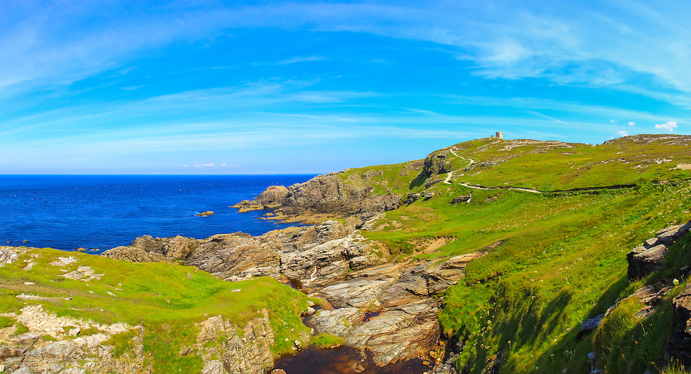 View looking East towards Banba's Crown and The Tower, Malin Head