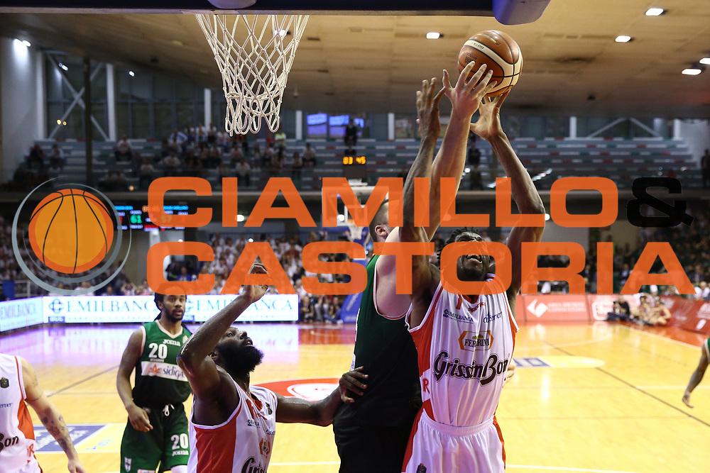 Fesenko Kyrylo<br /> GrissinBon Reggio Emilia vs Sidigas Avellino<br /> Lega Basket Serie A 2016/2017<br /> Play Off Quarti di Finale Gara 3<br /> REggio Emilia,17/05/2017<br /> Foto Ciamillo-Castoria/A. Gilardi