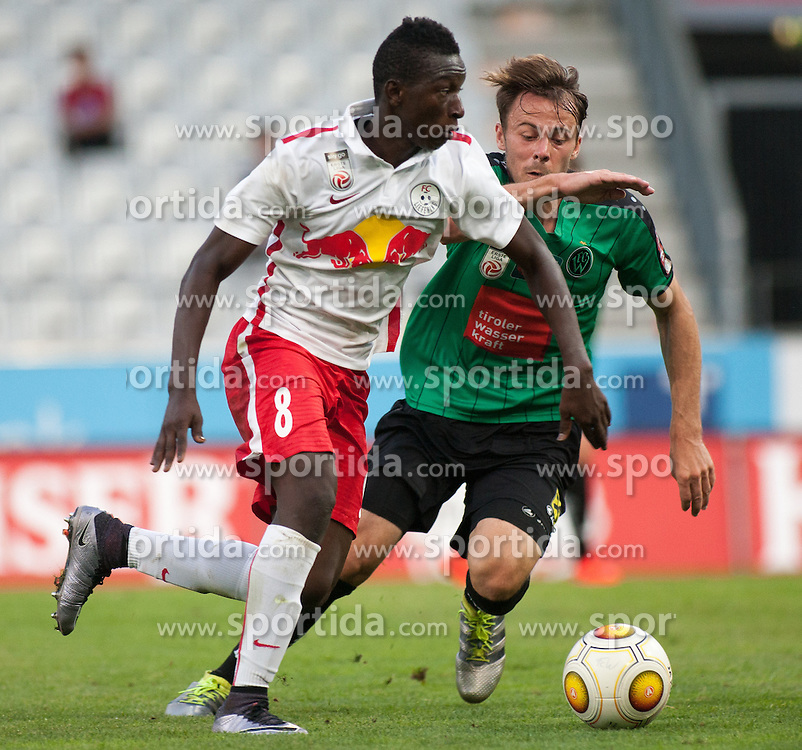 16.08.2016, Tivoli Stadion, Innsbruck, AUT, 2. FBL, FC Wacker Innsbruck vs FC Liefering, 5. Runde, im Bild v.l.n.r.: Amadou Haidara (FC Liefering) und Armin Hamzic (FC Wacker Innsbruck) // during second Austrian Bundesliga 5th round match between FC Wacker Innsbruck and FC Liefering at the Tivoli Stadion in Innsbruck, Austria on 2016/08/16. EXPA Pictures © 2016, PhotoCredit: EXPA/ Jakob Gruber