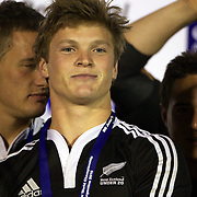 Tyler Bleyendaal, New Zealand, after the Australia V New Zealand Final match at the IRB Junior World Championships in Argentina. New Zealand won the match 62-17 at Estadio El Coloso del Parque, Rosario, Argentina. 21st June 2010. Photo Tim Clayto...