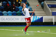 Ashley Jackson of Engalnd celebrates after scoring the winning shoot-out goal during the bronze medal match between New Zealand and England. Glasgow 2014 Commonwealth Games. Hockey, Bronze Medal Match, Black Sticks Men v England, Glasgow Green Hockey Centre, Glasgow, Scotland. Sunday 3 August 2014. Photo: Anthony Au-Yeung / photosport.co.nz