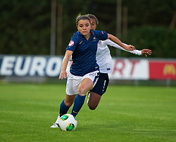 LLANELLI, WALES - Monday, August 19, 2013: France's Aurelie Gagnet in action against England during the Group A match of the UEFA Women's Under-19 Championship Wales 2013 tournament at Stebonheath Park. (Pic by David Rawcliffe/Propaganda)