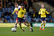 Shandon Baptiste of Oxford United in action during the EFL Sky Bet League 1 match between Oxford United and Rotherham United at the Kassam Stadium, Oxford, England on 11 January 2020.
