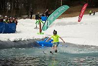 Gunstock Mountain's BYODC pond skim on closing weekend.     (Karen Bobotas/for the Laconia Daily Sun)
