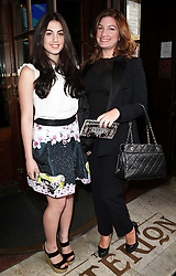 Karen Brady and  daughter Sophia arriving at a special screening of The Great Gatsby in London, Wednesday,15th May 2013.  Photo by: Stephen Lock / i-Images