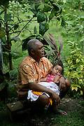 Peaceful slumber, Hanavave, Island of Fatu Hiva, Marquesas Islands, French Polynesia, (Editorial use only)<br />