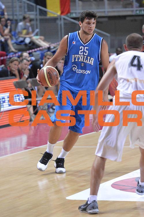 DESCRIZIONE : Anversa European Basketball Tour Antwerp 2013 Belgio Italia Belgium Italy<br /> GIOCATORE : Alessandro Gentile<br /> CATEGORIA : palleggio<br /> SQUADRA : Nazionale Italia Maschile Uomini<br /> EVENTO : European Basketball Tour Antwerp 2013 <br /> GARA : Belgio Italia Belgium Italy<br /> DATA : 17/08/2013<br /> SPORT : Pallacanestro<br /> AUTORE : Agenzia Ciamillo-Castoria/GiulioCiamillo<br /> Galleria : FIP Nazionali 2013<br /> Fotonotizia : Anversa European Basketball Tour Antwerp 2013 Belgio Italia Belgium Italy<br /> Predefinita :