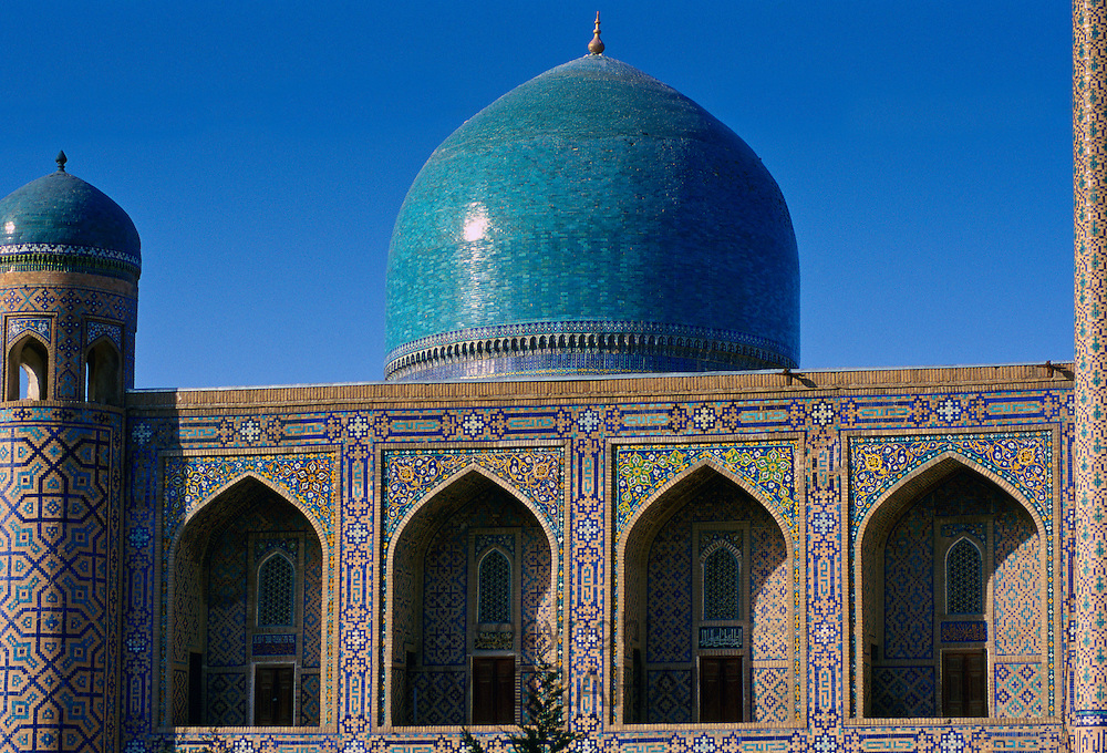 Dome, Registan Square,Samarkand, on the ancient Silk Route, Uzbekistan. RESERVED USE - NOT FOR DOWNLOAD -  FOR USE CONTACT TIM GRAHAM