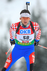 Croatian atlete Jakov Fak at Men 20 km Individual at E.ON Ruhrgas IBU World Cup Biathlon in Hochfilzen (replacement Pokljuka), on December 18, 2008, in Hochfilzen, Austria. (Photo by Vid Ponikvar / Sportida)