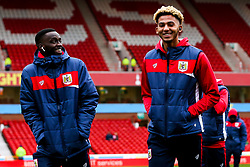 Mohamed Eisa of Bristol City and Lloyd Kelly of Bristol City arrive at the City Ground for the Sky Bet Championship fixture against Nottingham Forest - Mandatory by-line: Robbie Stephenson/JMP - 19/01/2019 - FOOTBALL - The City Ground - Nottingham, England - Nottingham Forest v Bristol City - Sky Bet Championship