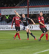 David Clarkson celebrates after equalling the best ever run of scoring at the start of a Dundee career - six goals in six games -  Dundee v St Johnstone, SPFL Premiership at Dens Park<br /> <br />  - &copy; David Young - www.davidyoungphoto.co.uk - email: davidyoungphoto@gmail.com