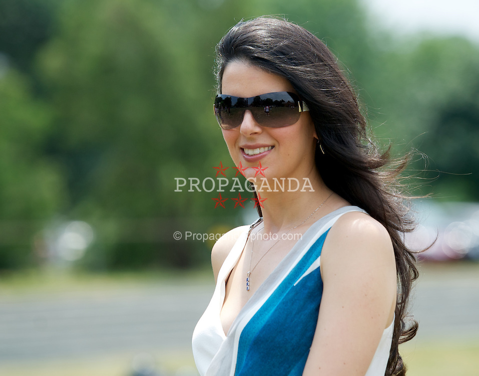 BOSTON, MA - Wednesday, July 18, 2012: Linda Pizzuti, wife of Liverpool FC owner John W. Henry, during a community event at the Perkins School for the Blind during the club's North American pre-season tour. (Pic by David Rawcliffe/Propaganda)