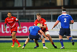 Joe Batley of Bristol United is tacked by Will Connors of Leinster - Mandatory by-line: Ken Sutton/JMP - 15/12/2017 - RUGBY - Donnybrook Stadium - Dublin,  - Leinster 'A' v Bristol United -