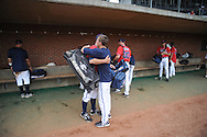 Mississippi players leave the field following their game vs. St. John's during an NCAA Regional game at Davenport Field in Charlottesville, Va. on Sunday, June 6, 2010. St. John's won 20-16.