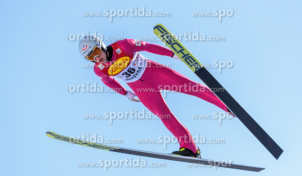 30.01.2016, Casino Arena, Seefeld, AUT, FIS Weltcup Nordische Kombination, Seefeld Triple, Skisprung, Probedurchgang, im Bild Martin Fritz (AUT) // Martin Fritz of Austria competes during his Trial Jump of Skijumping of the FIS Nordic Combined World Cup Seefeld Triple at the Casino Arena in Seefeld, Austria on 2016/01/30. EXPA Pictures © 2016, PhotoCredit: EXPA/ JFK