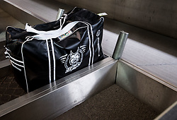 Bag during departure of Slovenia Olympic Team for PyeongChang 2018, on February 6, 2018 in Airport Joze Pucnik, Brnik, Slovenia. Photo by Morgan Kristan / Sportida