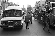 Police Van vs Ravers Van,  3rd Criminal Justice March,  London, 9th of October, 1994