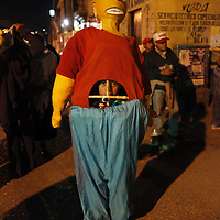Bart Simpson character marches in a Dia de los Muertes parade in Oaxaca, Mexico