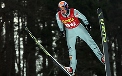 Jure Sinkovec of SSK Costella Ilirija, fourth place at Slovenian National Championship in Ski Jumping on February 12, 2008 in Kranj, Slovenia . (Photo by Vid Ponikvar / Sportal Images).