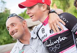Marko Polanc and Luka Pibernik of Radenska during Slovenian Road Cyling Championship 2013 on June 23, 2013 in Gabrje, Slovenia. (Photo by Vid Ponikvar / Sportida.com)