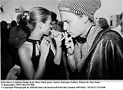 Kate Moss & Johnny Depp. Kate Moss book party. James Danziger Gallery. Prince St. New York. 11 September 1995. Film 95378f2<br />