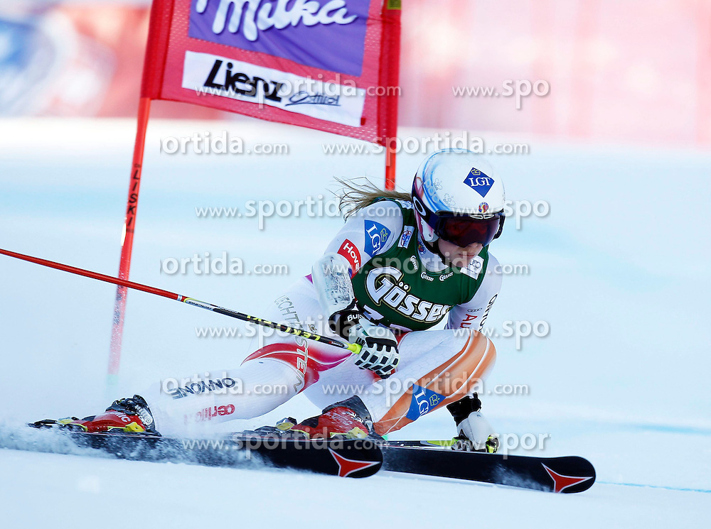 28.12.2013, Hochstein, Lienz, AUT, FIS Weltcup Ski Alpin, Damen, Riesenslalom 2. Durchgang, im Bild Tina Weirather (LIE) // Tina Weirather of (LIE) during ladies Giant Slalom 2 nd run of FIS Ski Alpine Worldcup at Hochstein in Lienz, Austria on 2013/12/28. EXPA Pictures © 2013, PhotoCredit: EXPA/ Oskar Höher