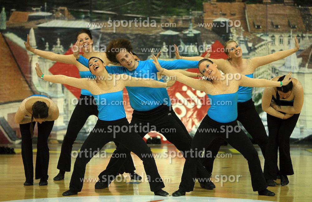 Team Jam, Denmark at European Cheerleading Championship 2008, on July 5, 2008, in Arena Tivoli, Ljubljana, Slovenia. (Photo by Vid Ponikvar / Sportal Images).