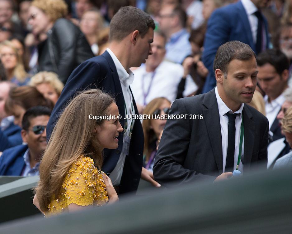 ANDY MURRAY TEAM, Ehefrau Kim in der Spielerloge, Herren Endspiel, Finale <br /> <br /> Tennis - Wimbledon 2016 - Grand Slam ITF / ATP / WTA -  AELTC - London -  - Great Britain  - 10 July 2016.