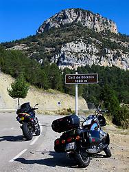 SPAIN CATALUNYA PYRENEES SEP07 - Moto Guzzi California and Honda Hornet 900 somewhere in the Pyrenees mountains...jre/Photo by Jiri Rezac..© Jiri Rezac 2007..Contact: +44 (0) 7050 110 417.Mobile:  +44 (0) 7801 337 683.Office:  +44 (0) 20 8968 9635..Email:   jiri@jirirezac.com.Web:    www.jirirezac.com..© All images Jiri Rezac 2007 - All rights reserved.