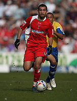 Photo: Rich Eaton.<br /> <br /> Swindon Town v Mansfield Town. Coca Cola League 2. 21/04/2007. Sofiene Zaaboub attacks for Swindon on a warm day wearing gloves