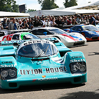 Porsche 962 CK6, Kremer Racing Leyton House, here at Goodwood FOS in 2008