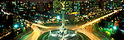 MEXICO, MEXICO CITY, CITYSCAPES Independence'Angel'Monument symbol of Mexico City; 118' tall, on Paseo de la Reforma at Florencia at night