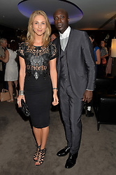 The UK Premier of Johnnie Walker Blue Label's 'Gentleman's Wager' - a short film starring Jude Law was held at The Bulgari Hotel & Residences, 171 Knightsbridge, London on 22nd July 2014.<br /> Picture Shows:-OZWALD BOATENG and JOSEPHINE KIME.