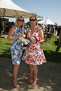 Gilly Newmark and Lois Roberts, Glorious Goodwood. 31 July 2007.  -DO NOT ARCHIVE-© Copyright Photograph by Dafydd Jones. 248 Clapham Rd. London SW9 0PZ. Tel 0207 820 0771. www.dafjones.com.