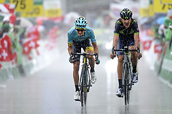 June 15, 2017 - Locarno / La Punt, Suisse - BILBAO Pello (ESP) Rider of Astana Pro Team, SOLER Marc (ESP) Rider of Movistar Team during stage 6 of the Tour de Suisse cycling race, a stage of 166 kms between Locarno and La Punt on June 15, 2017 in La Punt, Switserland, 15/06/2017 (Credit Image: © Panoramic via ZUMA Press)