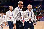 Ettore Messina, Giordano Consolini<br /> Nazionale Italiana Maschile Senior<br /> Eurobasket 2017 - Final Phase - Round of 16<br /> Finlandia Italia Finland Italy<br /> FIP 2017<br /> Istanbul, 09/09/2017<br /> Foto M.Ceretti / Ciamillo - Castoria