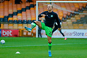 Forest Green Rovers Joseph Mills(23) warming up  during the EFL Sky Bet League 2 match between Port Vale and Forest Green Rovers at Vale Park, Burslem, England on 20 August 2019.
