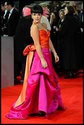 Lily Allen arrives for the EE BRITISH ACADEMY FILM AWARDS 2014 (BAFTA) at the The Royal Opera House in Covent Garden . London, United Kingdom. Sunday, 16th February 2014. Picture by Andrew Parsons / i-Images