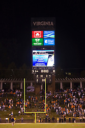 The Virginia Cavaliers defeated the Maryland Terrapins 31-0 in NCAA football at Scott Stadium on the Grounds of the University of Virginia in Charlottesville, VA on October 4, 2008.