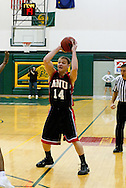 1/13/2006: Casey Fisher of the Northwest Nazarene University Crusaders in the Alaska Anchorage comeback victory over Northwest Nazarene, 60-57, in men?s basketball action at the Wells Fargo Sports Complex on Saturday.