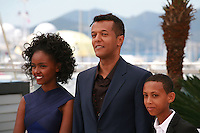 Actress Kidist Siyum, director Yared Zeleke and actor Rediat Amare at the Lamb film photo call at the 68th Cannes Film Festival Wednesday May 20th 2015, Cannes, France.