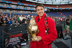 Steven Berghuis of Feyenoord, cup, trophy during the Dutch Toto KNVB Cup Final match between AZ Alkmaar and Feyenoord on April 22, 2018 at the Kuip stadium in Rotterdam, The Netherlands.