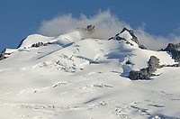 North face of Mount Challenger and the heavily crevassed Challenger Glacier, elevation: 8236 ft / 2510 m North Cascades National Park