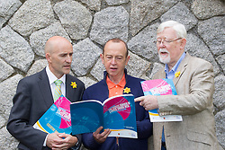11/06/2013 Dr. Noel Richardson director of the Centre for Men's Health at the Institute of Technology Carlow is pictured with cancer survivors John Langton and John Dowling as the the Irish Cancer Society launch a report on the Excess Burden of Cancer Among Men in the Republic of Ireland to mark Men's Health Week 2013. The report shows that men are at greater risk of getting cancer and dying from it than women. The Irish Cancer Society commissioned the Centre for Men's Health, Institute of Technology Carlow and the National Cancer Registry of Ireland to produce the landmark report and it is the first of its kind to look at cancer incidence and mortality from a gender perspective in Ireland. Picture Andres Poveda
