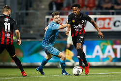 (L-R) Robin Propper of Heracles Almelo, Levi Garcia of Excelsior during the Dutch Eredivisie match between sbv Excelsior Rotterdam and Heracles Almelo at Van Donge & De Roo stadium on April 18, 2018 in Rotterdam, The Netherlands