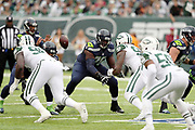 Seattle Seahawks offensive guard Germain Ifedi (76) blocks during the 2016 NFL week 4 regular season football game against the against the New York Jets on Sunday, Oct. 2, 2016 in East Rutherford, N.J. The Seahawks won the game 27-17. (©Paul Anthony Spinelli)