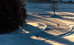 THEMENBILD - Freizeitsportler beim Langlaufen auf einer Loipe, aufgenommen am 29. Jaenner 2017, Seefeld, Österreich // freestyle athletes during cross-country skiing on ski track in Seefeld, Austria on 2017/01/29. EXPA Pictures © 2017, PhotoCredit: EXPA/ JFK