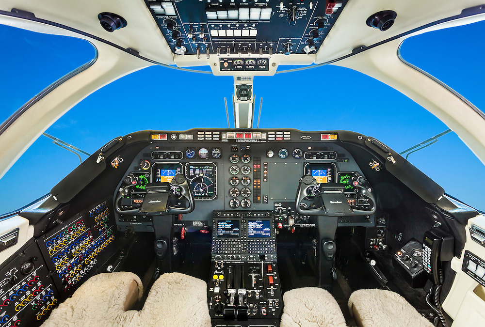 Hawker 400A cockpit, commissioned by Georgia Jet.  <br />